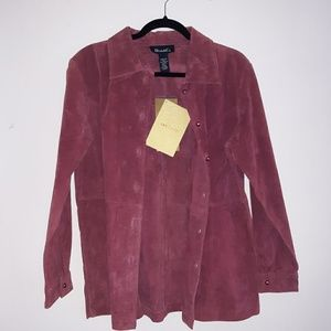Denim&Co QVC 100% Leather Jacket